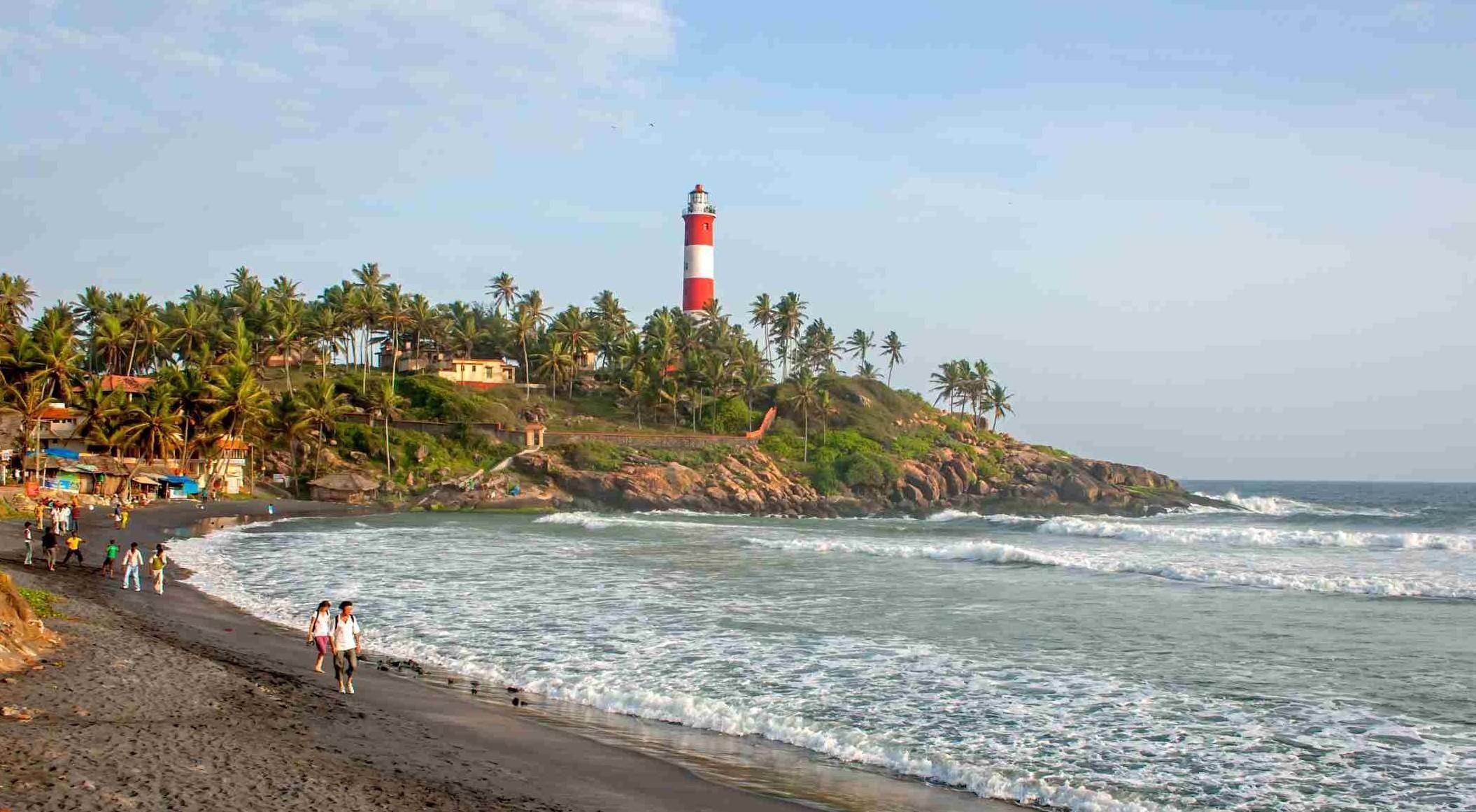 Kovalam is an internationally renowned beach